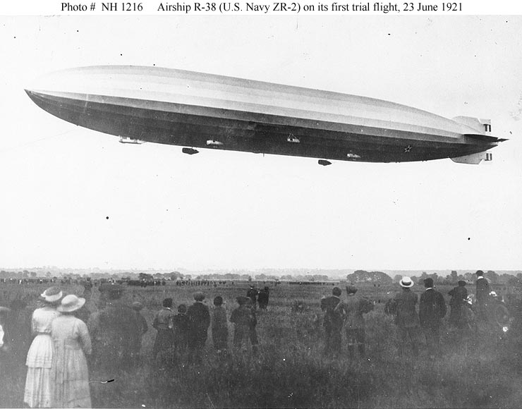 August 24 – R38-class airship ZR-2 explodes on her fourth test flight near Kingston upon Hull, England, killing 44 of the 49 Anglo-American crew on board.