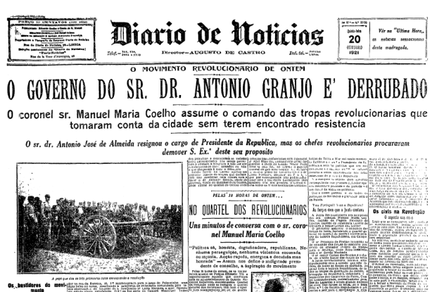 October 19 – The 'Bloody Night' (Noite Sangrenta) massacre in Lisbon claims the lives of Portuguese Prime-Minister António Granjo and other politicians.