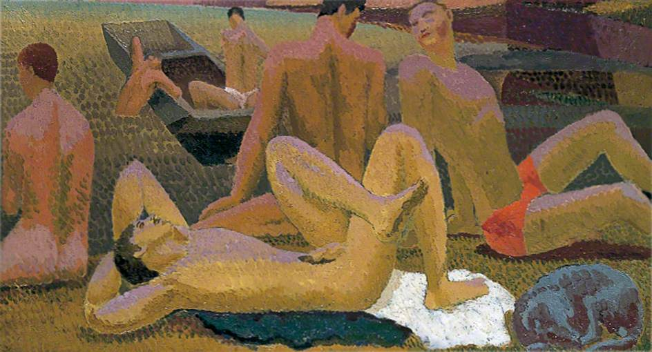 Grant, Duncan, 1885-1978; Bathers by the Pond