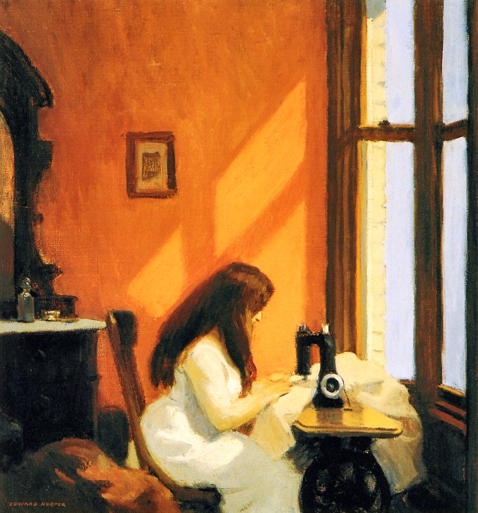 Edward Hopper – Girl at Sewing Machine