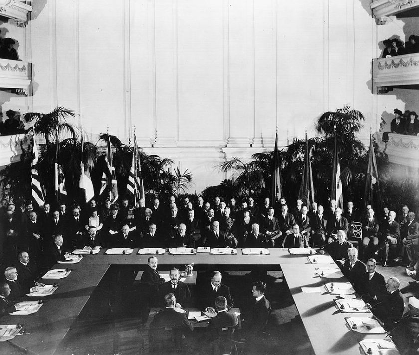 February 6 - The Five Power Naval Disarmament Treaty is signed between the United States, United Kingdom, Japan, France and Italy.