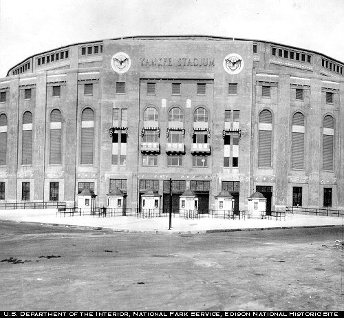 April 18 - Yankee Stadium opens its doors, as the home park of the New York Yankees baseball team.