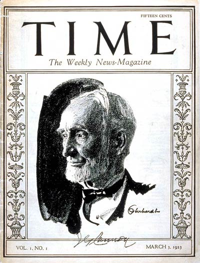 March 3 – The first issue of Time Magazine is published. Retired U.S. Speaker of the House Joseph G. Cannon appears on the cover.