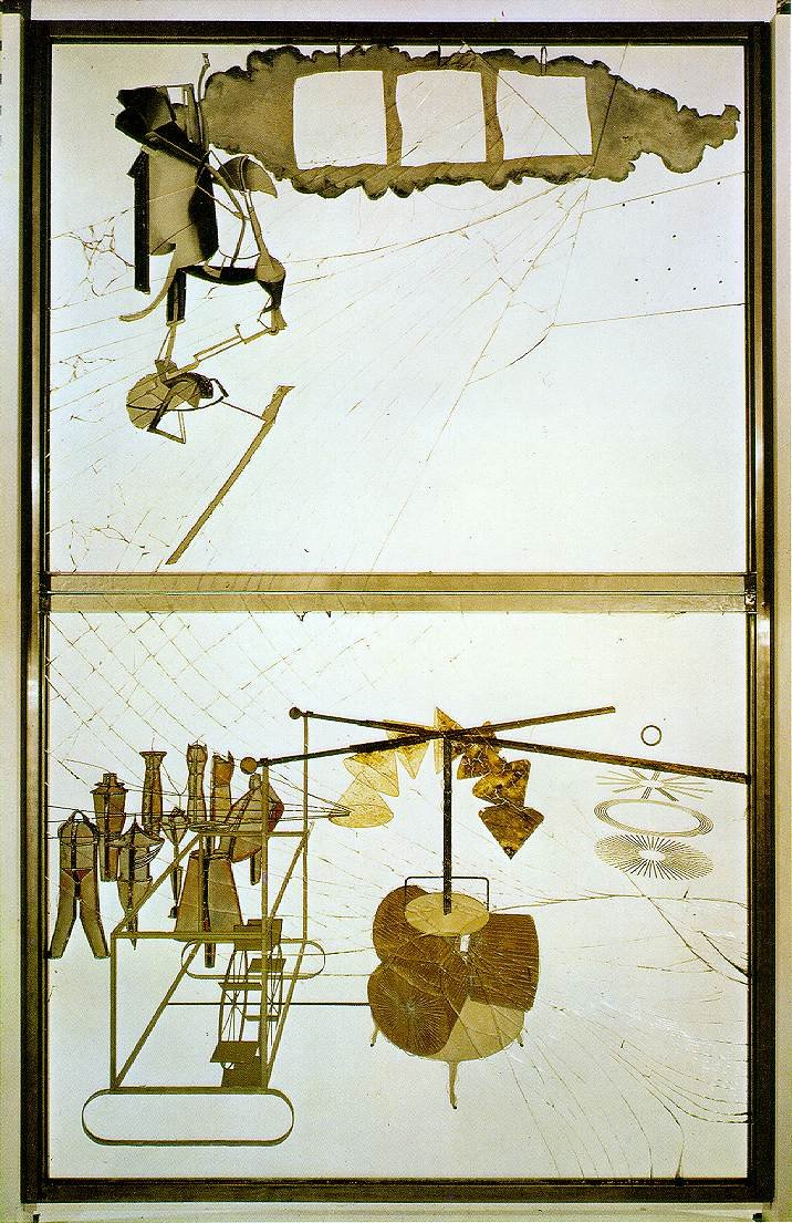 Marcel Duchamp – The Bride Stripped Bare By Her Bachelors, Even (The Large Glass)
