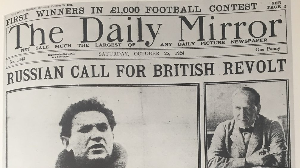 October 24 - The British Foreign Office publishes the fraudulent Zinoviev letter, which is then printed on the cover of the Daily Mail, the day before the general election.