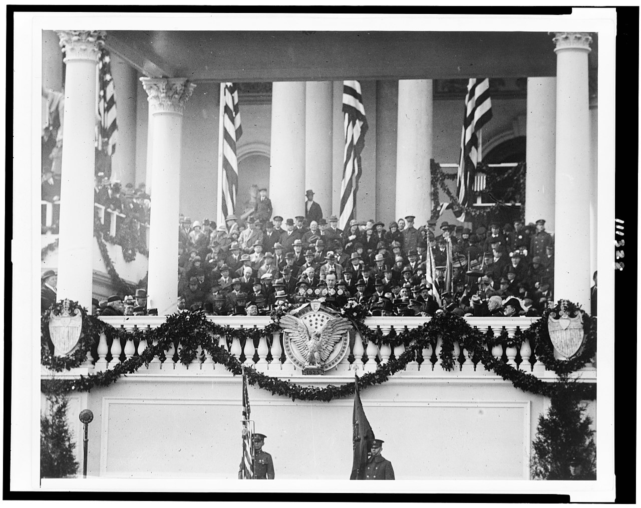 March 4 - Calvin Coolidge is sworn in for a full term as President of the United States, in the first inauguration to be broadcast on radio.