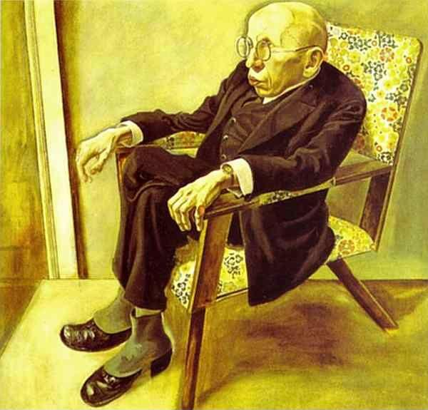 George Grosz – Portrait of the Writer Max Herrmann-Neisse