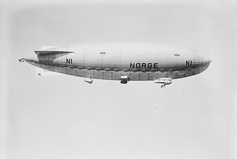May 12 - Roald Amundsen and his crew fly over the North Pole, in the airship Norge.