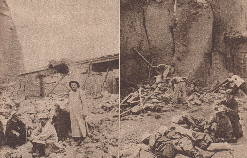 Scenes of devastation following the 1927 Gulang earthquake